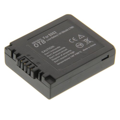 Power Li-Ion Akku Typ DMW-BM7 (kein Original) für Panasonic Lumix DMC-FZ1PP Lumix DMC-FZ20E Lumix