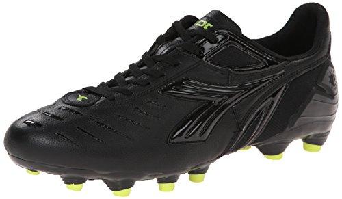Diadora Men's Maracana L Soccer Cleat, Black/Fluorescent Yellow, 9.5 M US