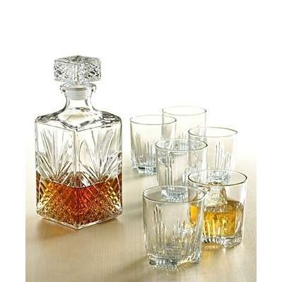 Bormioli Rocco Selecta Italian Gift Set 6 Whiskey Glasses /& Whiskey Decanter Jug