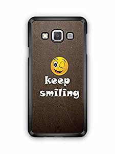 YuBingo Keep Smiling Designer Mobile Case Back Cover for Samsung Galaxy A3