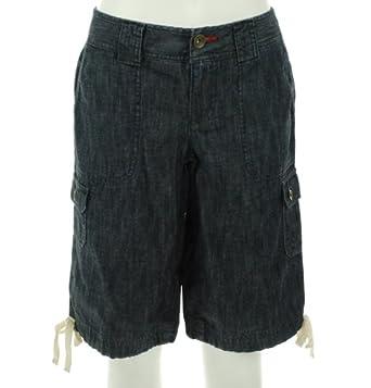 Tommy Hilfiger Cargo Denim Shorts Dark Wash 6