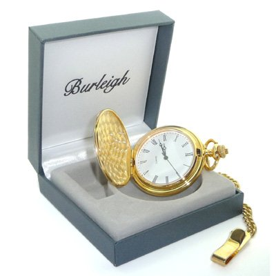 Burleigh Gold Finish Pocket Watch in Gift Box (BPW2)