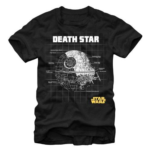 Star Wars Death Star Schematic Mens Black T-Shirt