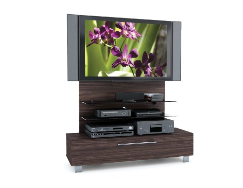 Image of Sonax HX-4528 Contemporary Ebony Pecan Hybrid TV Stand with Mount Stand for up to 55-Inch HD TV's (HX-4528)