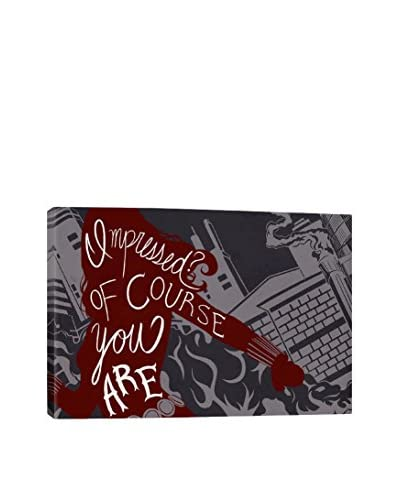Avengers Assemble Character Quotes: Impressed? Of Course You Are Gallery-Wrapped Canvas Print