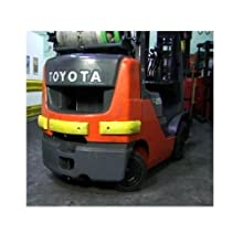 "IWI 70-1110 PVC Plastic Safe Bump Forklift Protector with Two 100lbs Magnets and VHB, 18"" Length x 4"" Width x 1.5"" Depth"