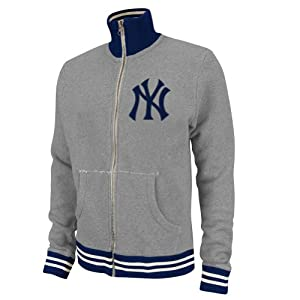 MLB Mitchell & Ness 6020 Vintage French Terry Track Jacket New York Yankees by Mitchell & Ness