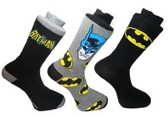 **Bon Marché** Chaussettes de super-héros pour les hommes (BATMAN)