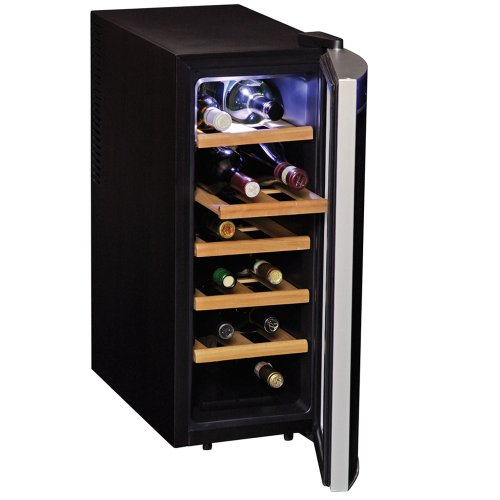 Koolatron Wc12-35D Black 12 Bottle Deluxe Wine Cellar