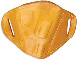 Bulldog Cases Tan Molded Leather Belt Slide Holster (Small)
