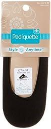 Pediquette by Peds 2 Pair Large Sock Liners BLACK 10-12