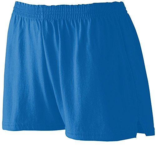 Augusta Sportswear WOMEN'S JUNIOR FIT JERSEY SHORT L Royal Closeout Casual Shorts