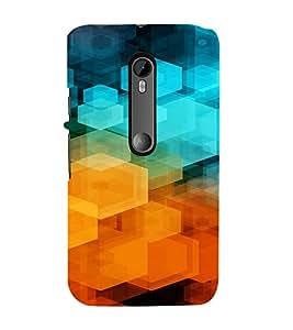 PrintVisa Color Block Prisma Pattern 3D Hard Polycarbonate Designer Back Case Cover for Motorola Moto G3
