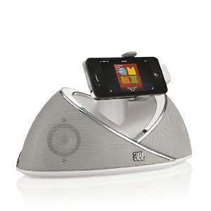 JBL On Beat Enceinte Station d'accueil Compatible avec iPhone 3G, 3GS, 4, 4S, iPod Touch 4 and iPod Nano 6 - Blanc - Livré avec Prise Française et Anglaise
