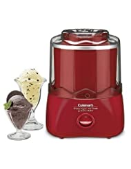 Cuisinart Frozen Dessert Maker (RED) - Frozen Yogurt, Ice-Cream & Sourbet by Cuisinart
