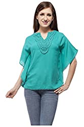 Peptrends Women's Top (TO15037GN_L, Green, L)