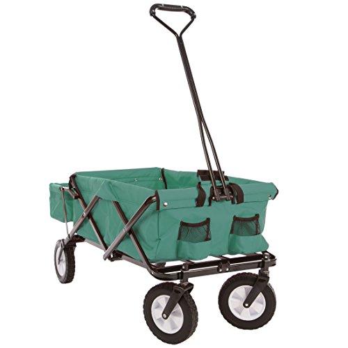 Ultrasport - Carrito plegable / carretilla / carro para picnic con funda para el transporte, color verde
