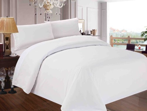 Red Nomad Luxury Duvet Cover & Sham Set, 3 Piece, Full/Queen, White (Full Bedding Set White compare prices)