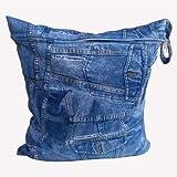 防水加工 バッグ ウォータープルーフ waterproof 水着 バック バッグ 袋 着替え プール おむつ ポーチ (デニム柄) ランキングお取り寄せ