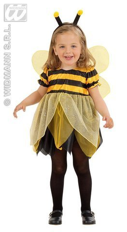 Children's Lil Bee Child Costume Outfit for Animal Jungle Farm Fancy Dress