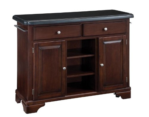 Cheap Kitchen Cart with Black Granite Top in Cherry Finish (VF_HY-9300-1074)