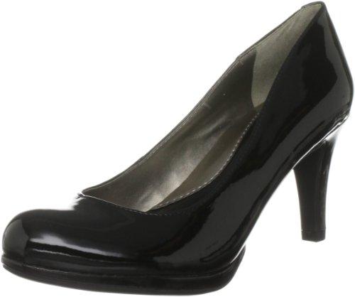 Naturalizer Women's Lennox Black Shiny Platforms Heels 44898 8 UK