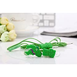 """Advent basicsâ""""¢ HULK K-13 In-Ear Earphone,Includes 3 Additional Earplug Covers - Great For Kids, Boys, Girls, Adults, Gifts Stereo Dynamic Wired Headphones."""