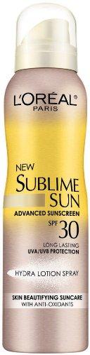 vitamin a sunscreen Discount L'Oreal Sublime Sun Hydra Lotion Spray SPF 30, 4.2 Ounce