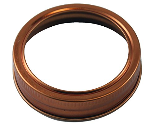 Copper Bands / Rings for Mason, Ball, Canning Jars (10 Pack, Regular Mouth)