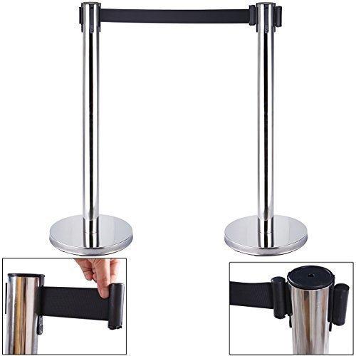 euroeshop-2x-edelstahl-einziehbarer-stretch-barrieren-gurtel-stanchion-set-sicherheits-pole-beitrage