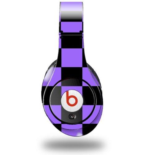 Checkers Purple Decal Style Skin (Fits Original Beats Studio Headphones - Headphones Not Included)