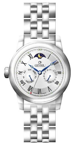 Gevril Soho White Dial Stainless Steel Mens Watch 2603B