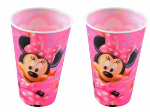 Disney Minnie Mouse Plastic 16 Ounce Lenticular Cup (2-Pack)
