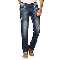 Provogue Men's Tin Slim Fit Jeans (8903522454240_103703-BL-024-32_Blue)