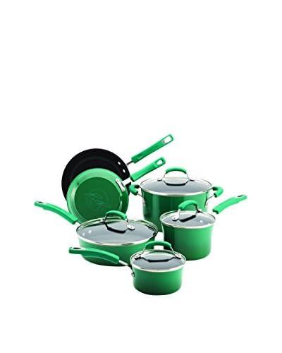 Rachael Ray Porcelain Fennel 10-Piece Non-Stick Cookware Set