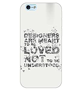 PrintDhaba QUOTE D-6878 Back Case Cover for APPLE IPHONE 6 PLUS (Multi-Coloured)