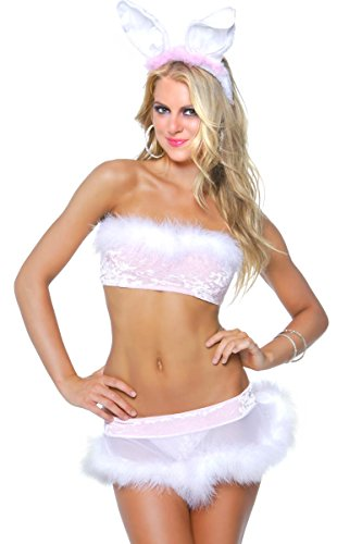 3WISHES 'Lil Pink Bunny Costume' Sexy Animal Halloween Costumes for Women
