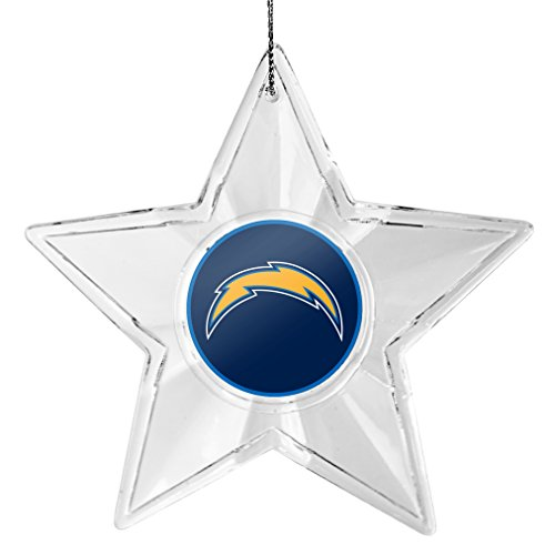 NFL San Diego Chargers Traditional Acrylic Star Ornament