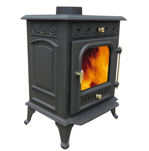 7.5kw Cast Iron Log Wood Multi-fuel Burning Stoves, High Efficiency CE Certificate