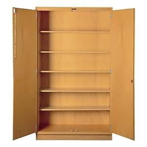 Tall Wood Storage Cabinet 60 W X 22 D X 84 H Garage Storage And Organization