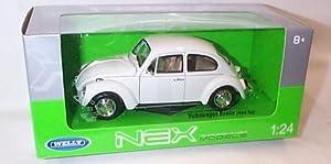 welly nex models plain white VW beetle hard top car 1.24 scale diecast model