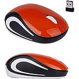 Kinghard Cute Mini 2.4 GHz Wireless Optical Mouse Mice For PC Laptop Notebook Orange