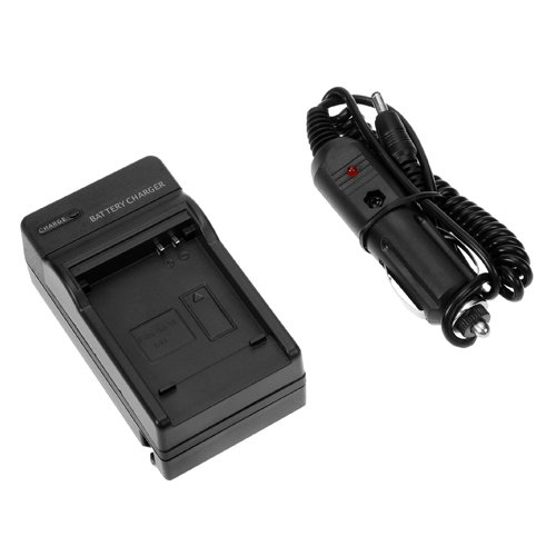 BIRUGEAR SLB-07A Digital Camera Battery Charger with Car Adapter + Strap Lanyard For Samsung DualView TL220,TL225,TL100,TL210