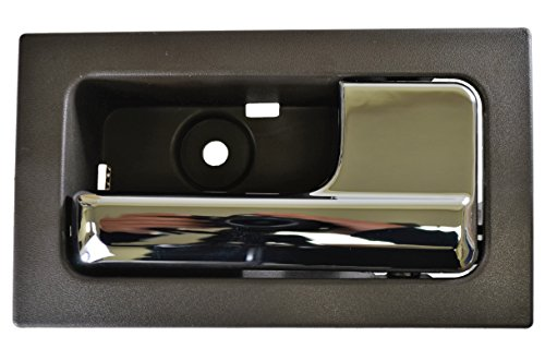 PT Auto Warehouse FO-2507MG-FR - Inside Interior Inner Door Handle, Shiny Gray Housing with Chrome Lever - for Power Locks, Passenger Side Front (Ford F150 Interior Door Handle compare prices)