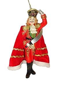 "7.75"" Nutcracker Suite Ballet Red Prince Christmas Ornament"
