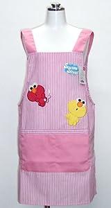Sesame Street character stripe apron apron Pink 56 509 (japan import)