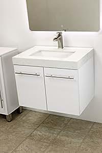 Windbay 24 Quot Wall Mount Floating Bathroom Vanity Sink Set