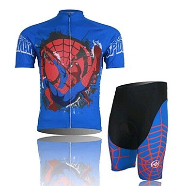 qinxi Amazing Spider Man Cycling Wear Short Sleeved Suit, Moisture Cycling Wear, Motor Function Material