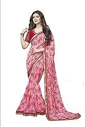 Hari Krishna sarees Self Design Bollywood Georgette Sari/F236