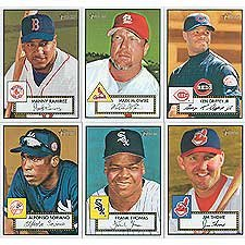 2001 Topps Heritage Baseball Basic 230 Card Hand Collated Set (Cards #81 to #310) Including Alfonso Soriano, Mark McGwire, Curt Schilling, Sammy Sosa, Rickey Henderson, Ken Griffey Jr., Frank Thomas, Manny Ramirez, Randy Johnson and Others.